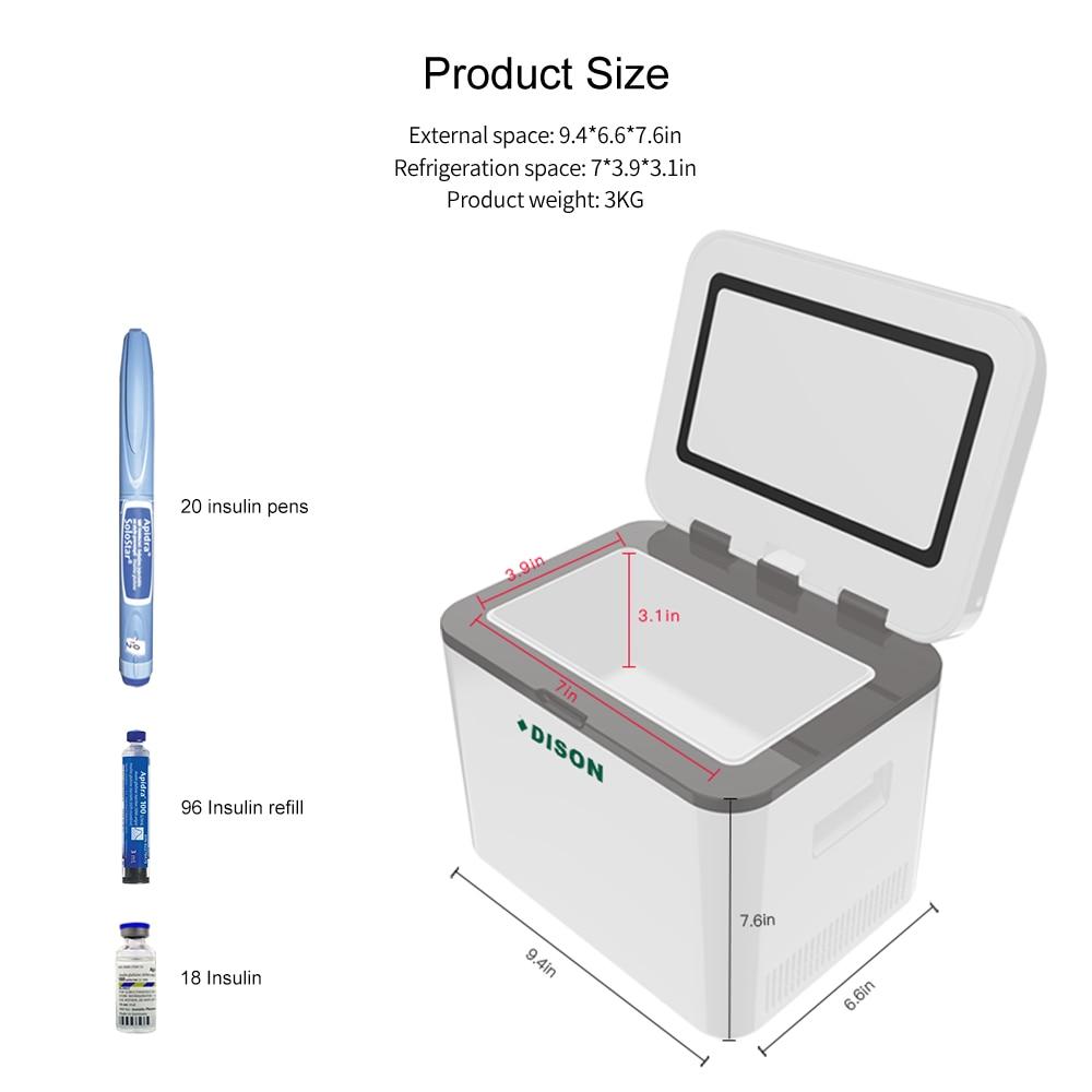 Portebla Insulino Cooler Insulated Cooler Diabetics Insulino Voyage Colder Case Cooling Vaccin Cooler Diabetics Insulino Cooler