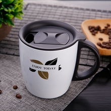 цена на 400Ml 304 Stainless Steel Insulated Coffee Mug Tumbler with Handle Vacuum Tumbler Cup with Lid Insulated Camping Tea Flask for H
