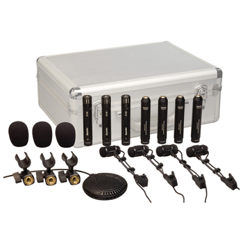 Microphones Set Drk681 Top Quality Drum Kit Drum Condenser Microphone 8 Pieces Including Clips