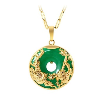 Natural Green Jade Pendant Dragon Phoenix 925 Silver Necklace Chinese Carved Fashion Charm Jewelry Amulet for Men Women Gifts natural green jade pendant dragon phoenix 925 silver necklace chinese carved fashion charm jewelry amulet for men women gifts