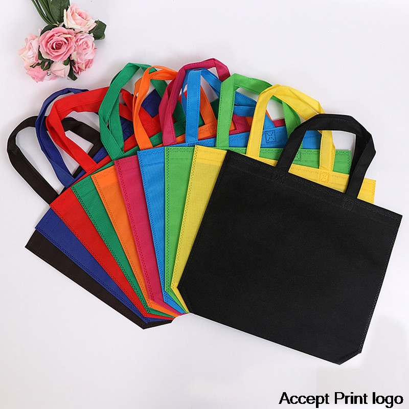 20 Pieces Non Woven Bag Shopping Bags Recycled Ecobag  Blank Tote Bag Tote Bags Custom Make Printed Logo
