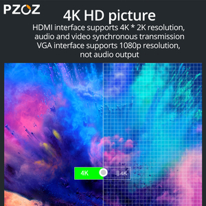 Image 4 - PZOZ USB C HDMI VGA מתאם סוג C כדי HDMI 4K TYPE C לסמסונג גלקסי S10 S9 S8 Huawei mate 20 P30 פרו USB C HDMI VGA מתאם