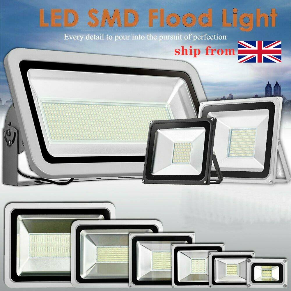 10W -1000W 110V LED Flood Light Floodlight Spotlight Waterproof Outside Security Wall Lamp Coldwhite for Garden Street