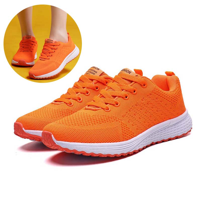 Orange Sneakers Women Mesh Casual Shoe Tenis Feminino Woman Shoes Moda Mujer 2019 Brand Designer Shoes Pink Green