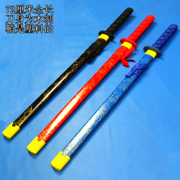 Children's toys wooden Japanese sword katana toy knife for kids shipping free - discount item  29% OFF Home Decor