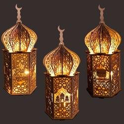 Decoraties Voor Huis Eid Licht Paleis Houten Ornamenten Islamitische Moslim Party Decor Eid Al Adha Deco Festival Levert
