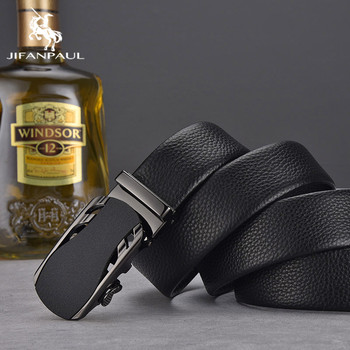 JIFANPAUL NEW Fashion Luxury Cow Genuine Alloy Buckle Belt Classic Leather for Men Automatic