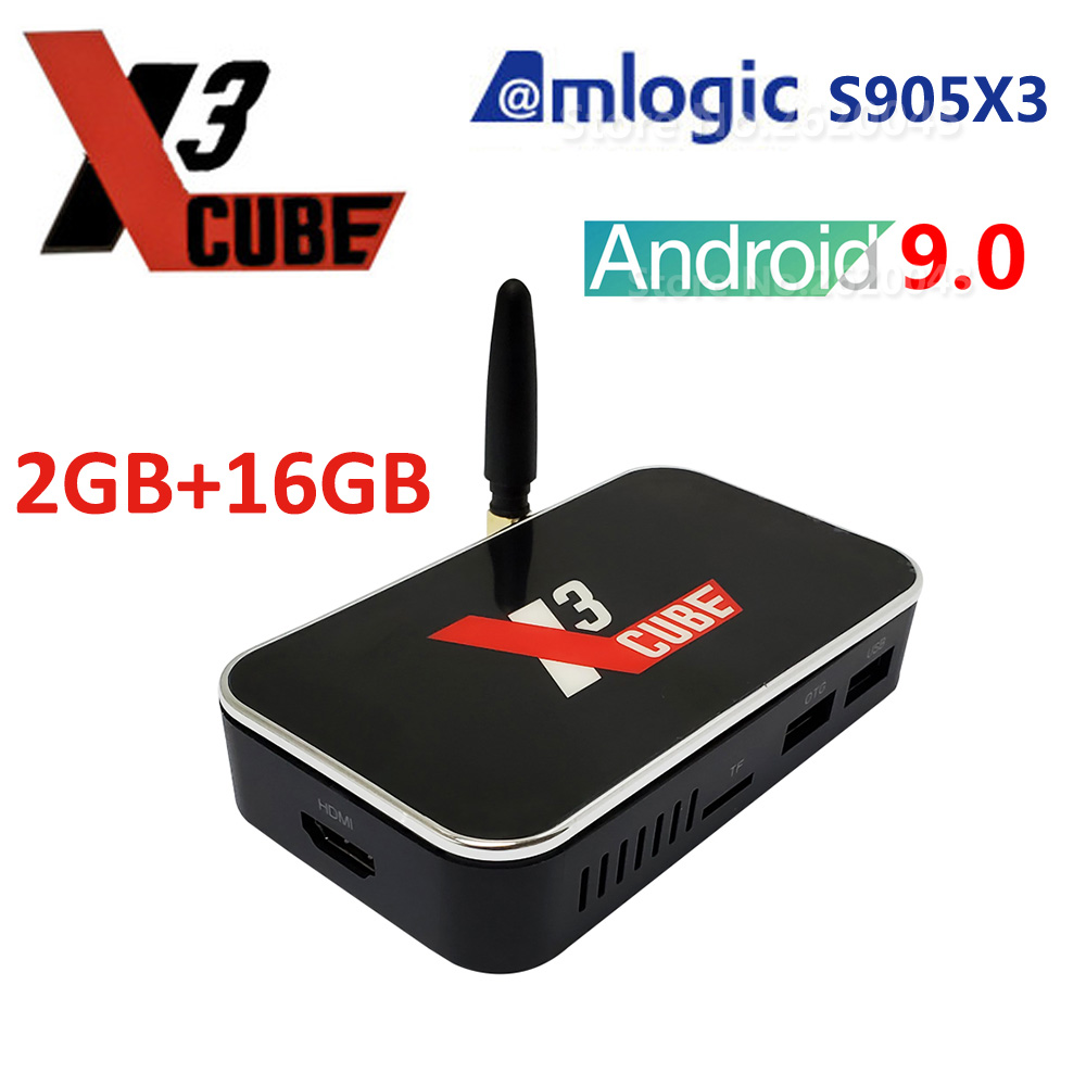 Ugoos X3 Cube  Android Tv Box  Amlogic S905x3 LPDDR4 2GB 16GB 2.4G 5G WIFI LAN RJ45 1000M 4k HD Set Top Box Ugoos X3 Cube Tv Box