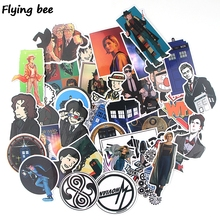 Flyingbee 37 pcs Doctor Who Sticker Waterproof Funny PVC Scrapbooking for Luggage Laptop Phone Decals DIY Album Stickers X0392