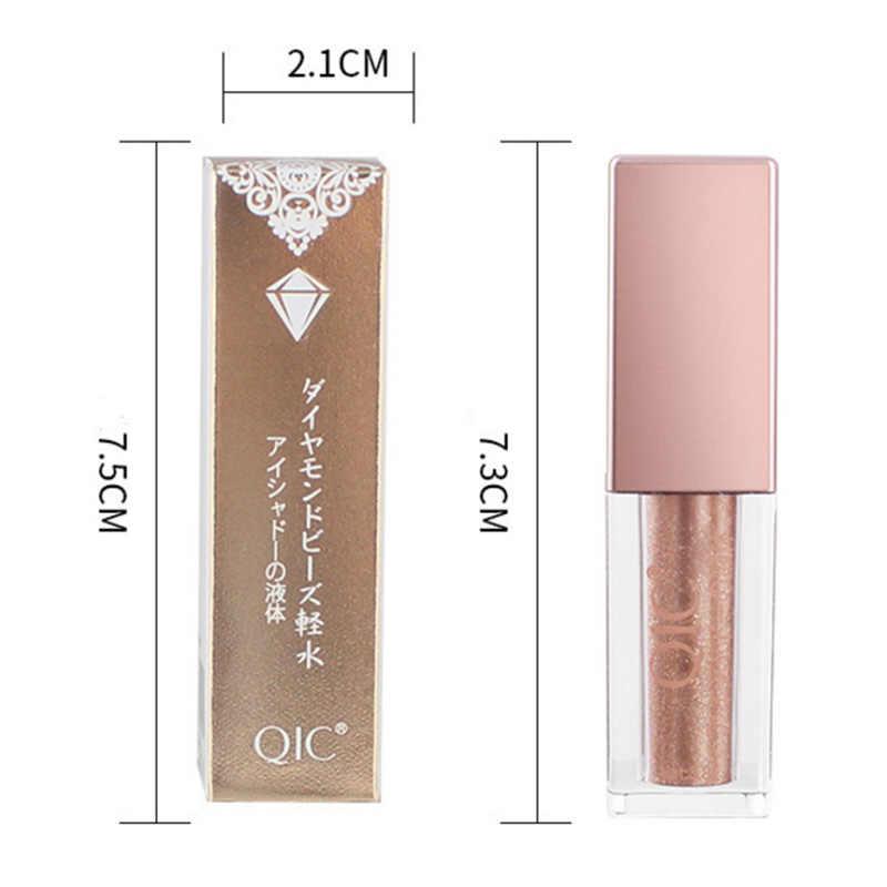 6 colores brillo y brillo diamante delineador de ojos líquido sombra de ojos impermeable ojos brillantes de larga duración herramientas de maquillaje TSLM2