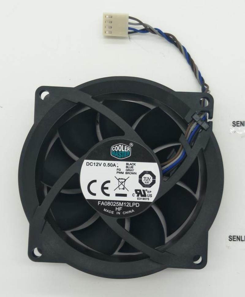 FA08025M12LPD 12V 0.50A 804057-001 80*80*25mm Cooling Fan 4pin Cooling Fan Processor Cooler Heatsink Fan