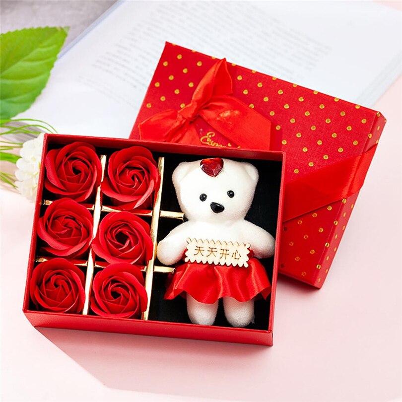Transparent Gift Box Plastic Organizer for Rose Bear Flower Birthday Cake SQ5