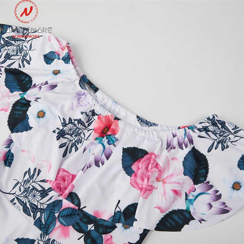 Vrouwen Speelpakjes Voor Streetwear Patchwork Ontwerp Riem Decor Een Hals Off Shoulder Korte Mouw Print Zomer Slanke Jumpsuits