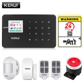 KERUI G18 GSM Alarm Systems For Home Security Systems APP Wireless  Burglar Alarm Fire Protection Motion Sensor Security Alarm 1