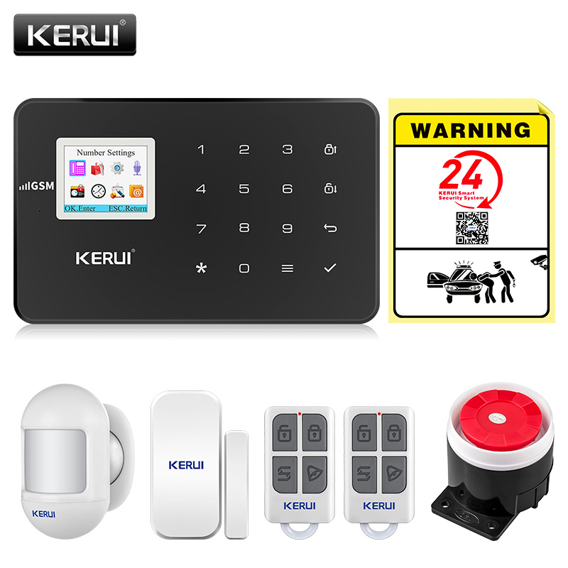 KERUI G18 GSM Alarm Systems For Home Security Systems APP Wireless  Burglar Alarm Fire Protection Motion Sensor Security Alarm