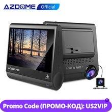 """AZDOME M05 OLED ekran çizgi kam 3 """"1080P FHD araba kamera ile GPS sürücü yorgunluk uyarısı gece görüş ön panel kamerası park görevlisi"""