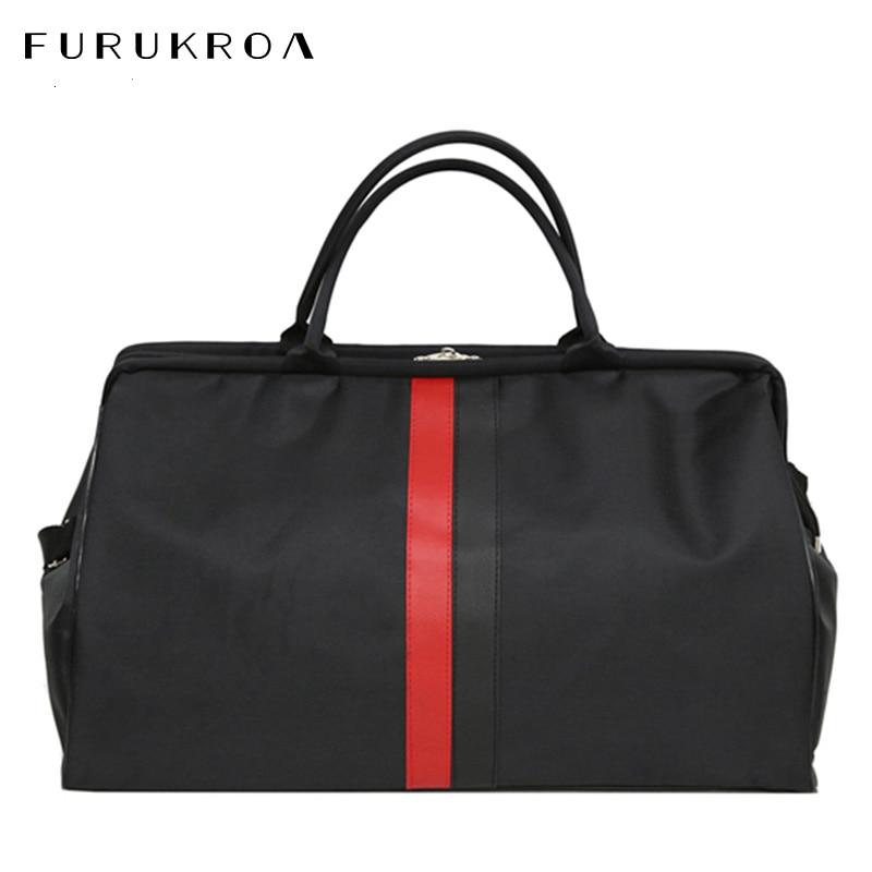 Women Travel Bag Weekend Outdoor Nylon Fitness Bags For Men Handbags Unisex Shoulder Bags Stripe Yoga Duffle Bag Hot XA802WB