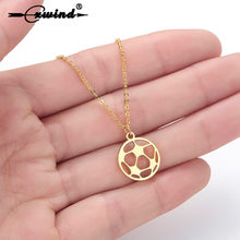 Cxwind Stainless Steel Soccer Football Charm Pendant Necklace Unisex Choker Jewelry Boys Mens Girls Womens Soccer Fan Gift(China)