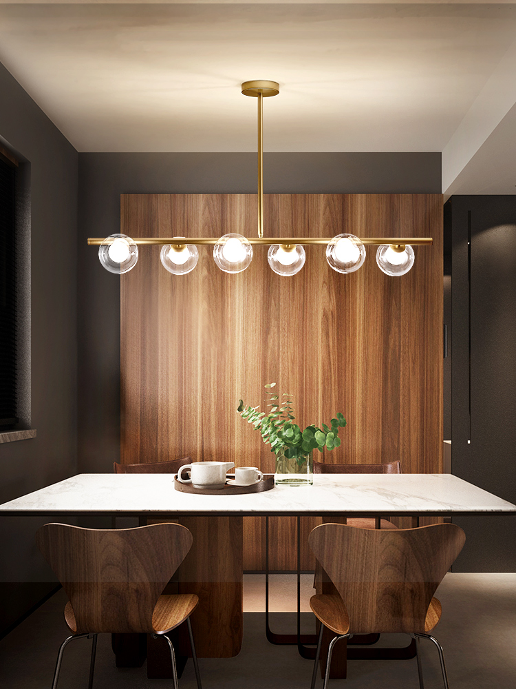 Nordic Simple Black/Gold LED Pendant Lights Iron Glass Ball Hanging Lamp Dining Room Office Bar Coffee Shop Restaurant Fixtures