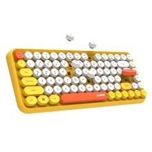 цены [NEW] Small Wireless bluetooth Keyboard, Light Portable 78 Keys Keyboard Multimedia Mini Keyboard for Pc Computer Laptop Mac