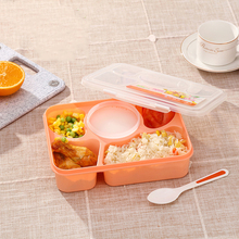 1100ml Microwave Bento Lunch Box Picnic Food Fruit Container Storage Box For Kids Adult with spoon large capacity microwave lunch box with spoon