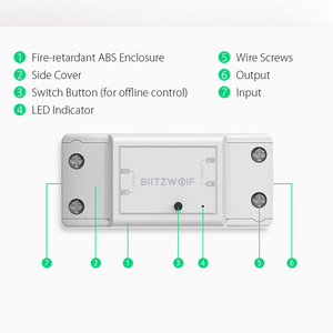 Image 5 - BlitzWolf BW SS4 בסיסי 2200W 10A 1/2 דרך WIFI DIY בית חכם מתג מודול מרחוק בקר שקע לעבוד עם Google עוזר