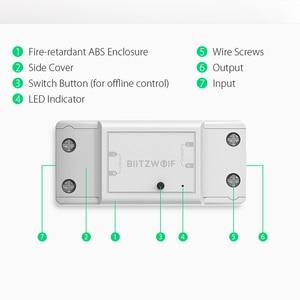 Image 5 - BlitzWolf BW SS4 Grund 2200W 10A 1/2 Weg WIFI DIY Smart Home Schalter Modul Fernbedienung Buchse Arbeit mit Google assistent