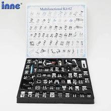 INNE Sewing Machine Presser For Brother Singer Darning Foot Feet Domestic Braiding Blind Stitch 11-82pcs/Set Overlock