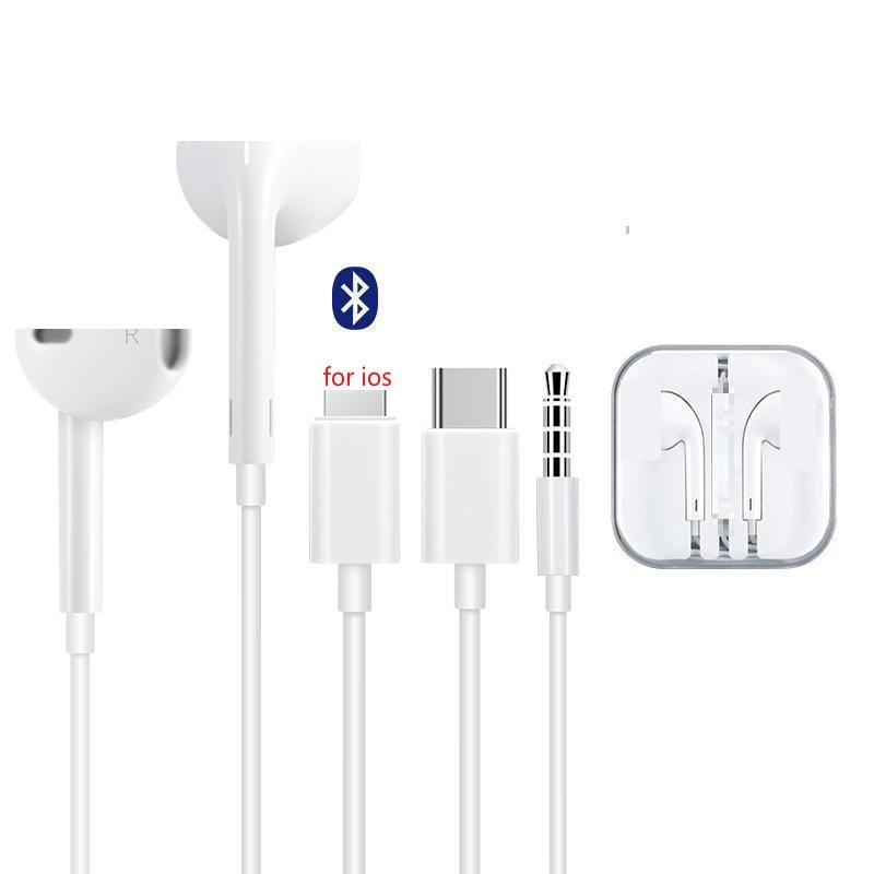 3,5 мм стерео наушники в ухо освещение и Type-c наушник провод гибрид с микрофоном управления звуковая гарнитура для iPhone Samsung Xiaomi