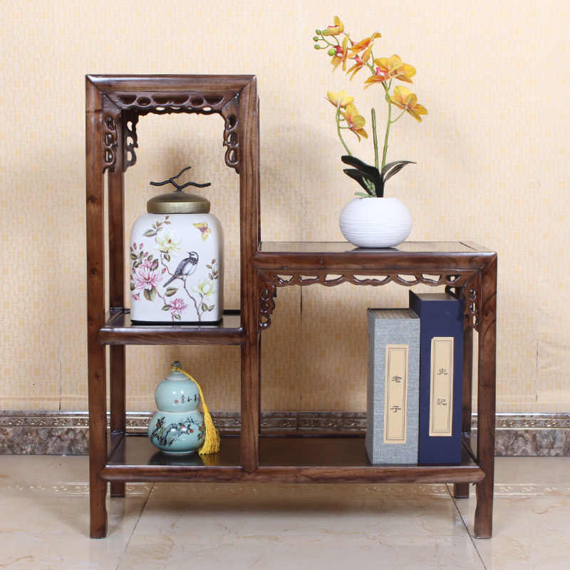 Rack Indoor Elm Wood Fish Tank Frame Height Multi-storey Shelf To Ground Chinese Style Flower Several Green Luo Bonsai Frame