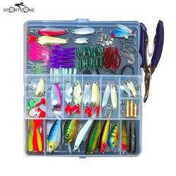 Набор рыболовных приманок 73/101/132/232 шт., набор рыболовных приманок для гольяна, ложек, крючков, рыболовных приманок, искусственные приманки