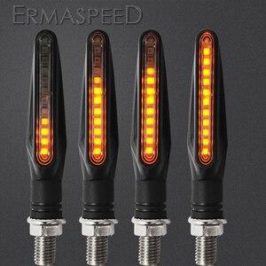 Image 1 - Motorfiets Led Verlichting Richtingaanwijzer Motor Lamp Sequentiële Blinker Flasher Mini Motorfiets Led Indicatoren Voor Yamaha Mt07