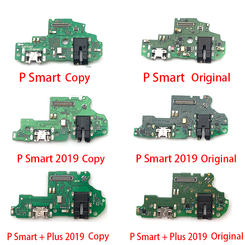 New Micro USB Charging Charger Port Dock Connector Flex Cable For Huawei P Smart Plus 2019 USB Board Repair Parts