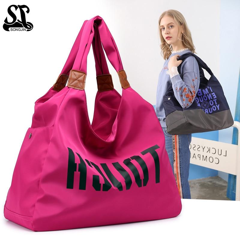 Tote Gym bag Handbag Black Women Shopping Bag Brand Simple Nylon Shoulder Handiness Dance Package