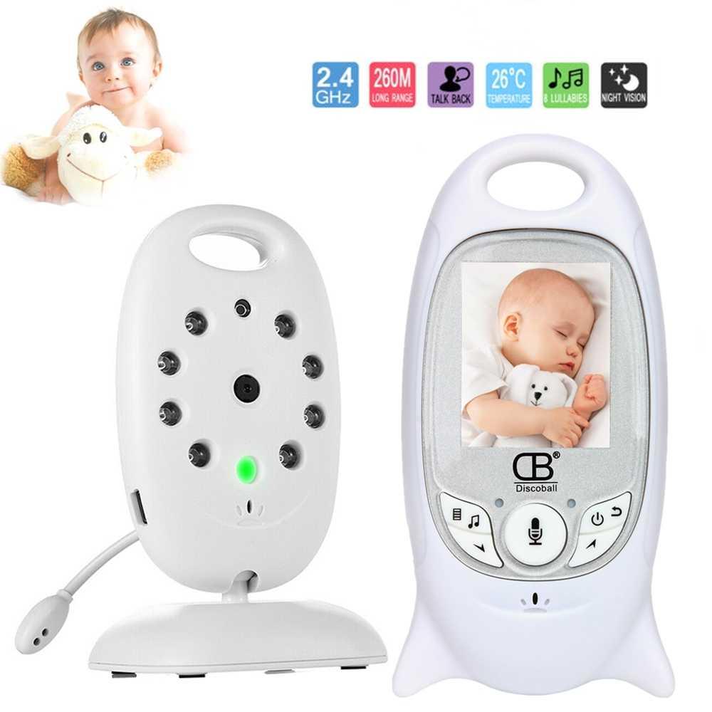 Bebek uyku monitörü renkli Video kablosuz bebek izleme monitörü baba elektronik güvenlik 2 konuşma Nigh vizyon LED sıcaklık izleme