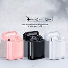 I7s TWS bezprzewodowe słuchawki Bluetooth 5.0 słuchawki sportowe słuchawki douszne z mikrofonem dla wszystkich smartfonów Xiaomi Samsung Huawei LG