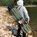 Многофункциональная зеленая/черная удочка для рыбалки на открытом воздухе  двойная приманка  сумка для удочки