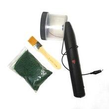 Applicateur de flocage dherbe statique de Mini Machine de flocage dabs avec la poignée antidérapante pour la Table de sable de modélisation scénique de bricolage