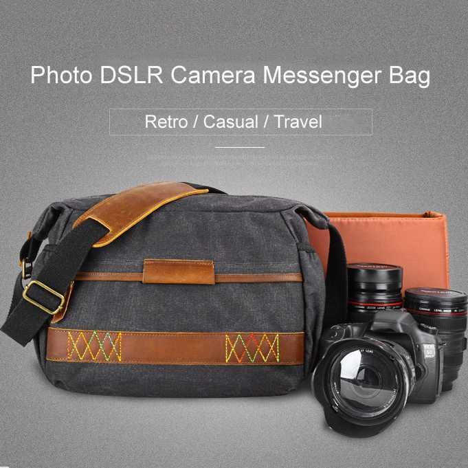 Batik À Prova D' Água Da Lona Saco Da Câmera do vintage bolsa de Ombro Saco de Fotografia para Canon Nikon Sony Dslr Camera