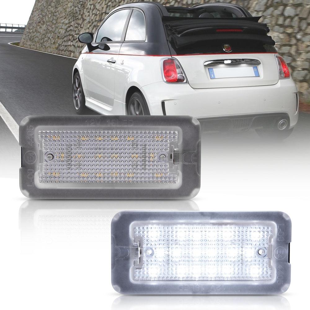2 шт. Canbus светодиодный светильник номерного знака для Fiat 500 для Fiat Abarth 500 МОДЕЛЬ 2007-2016 TARGA 51800482