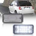 Комплект из 2 предметов с can-bus светодиодный номерной знак светильник для Fiat 500 для Fiat Abarth 500 МОДЕЛЬ 2007-2016 TARGA 51800482