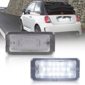 2pc Canbus LED License Number Plate Light For Fiat 500 For Fiat Abarth 500 Model 2007-2016 TARGA 51800482