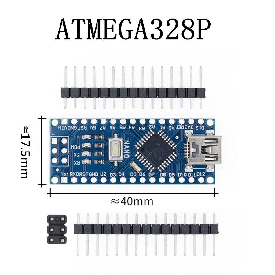 Nano с Загрузчиком совместимый Nano 3,0 контроллер для arduino CH340 USB драйвер 16 МГц Nano v3.0 ATMEGA328P/168 P - Цвет: Blue-ATMEGA328