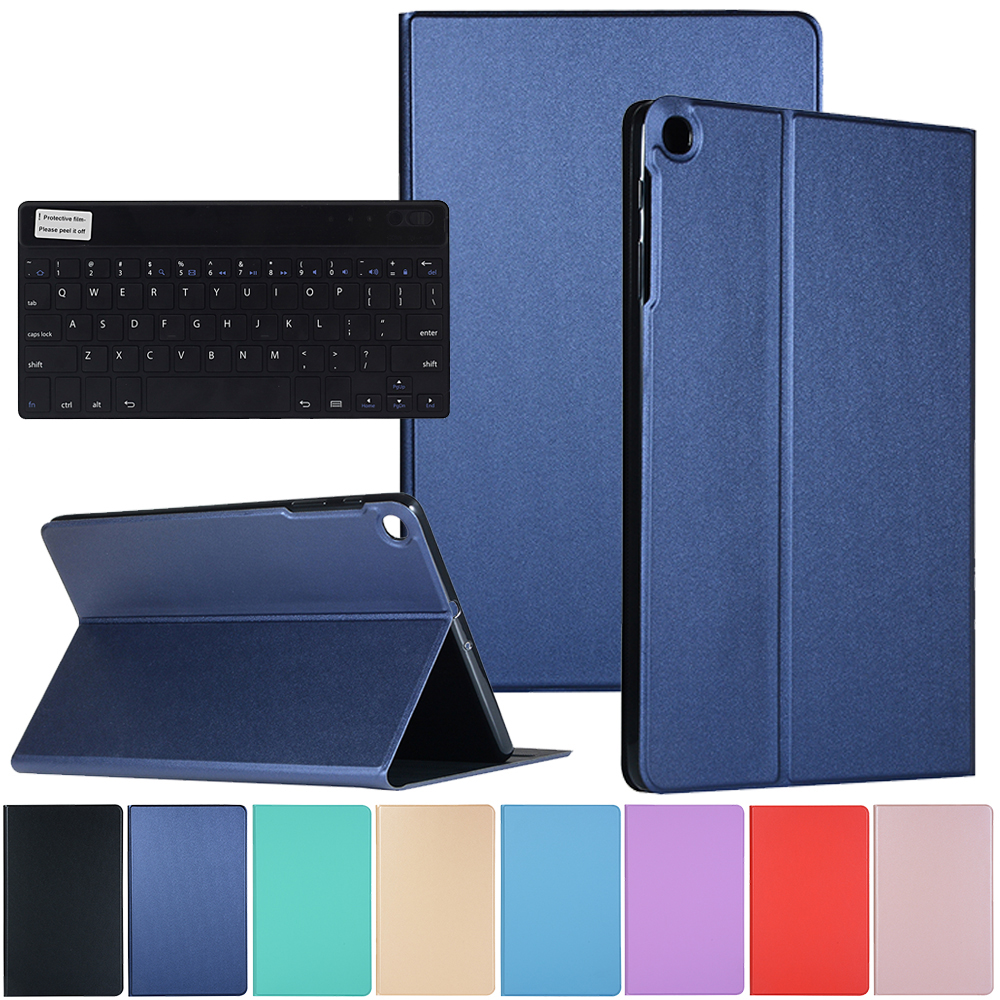 Case For Samsung Galaxy Tab A 10.1 inch T510 T515 Tablet Flip Cover Folio Case with Wireless Keyboard for SAMSUNG TabA 10.1 2019 image