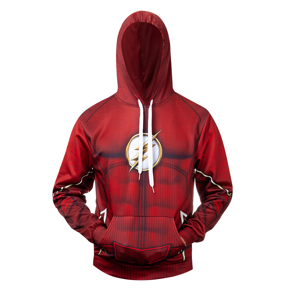 DC Superhero The Flash Cosplay Costume 3D Printed Costume Premium Coat Hooded Sweatshirts Pullover Hoodies