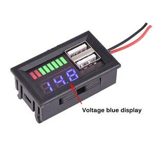 LED Digital Display Voltmeter Mini Voltage Meter Battery Tester Panel for DC 12V Cars Motorcycles Vehicles Dual USB 5V2A Output(China)