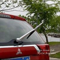 Mitsubishi Outlander PHEV 2013-2019 뒷 트렁크 창 유리 와이퍼 커버 트림 오버레이 외관 크롬 장식 자동차 액세서리