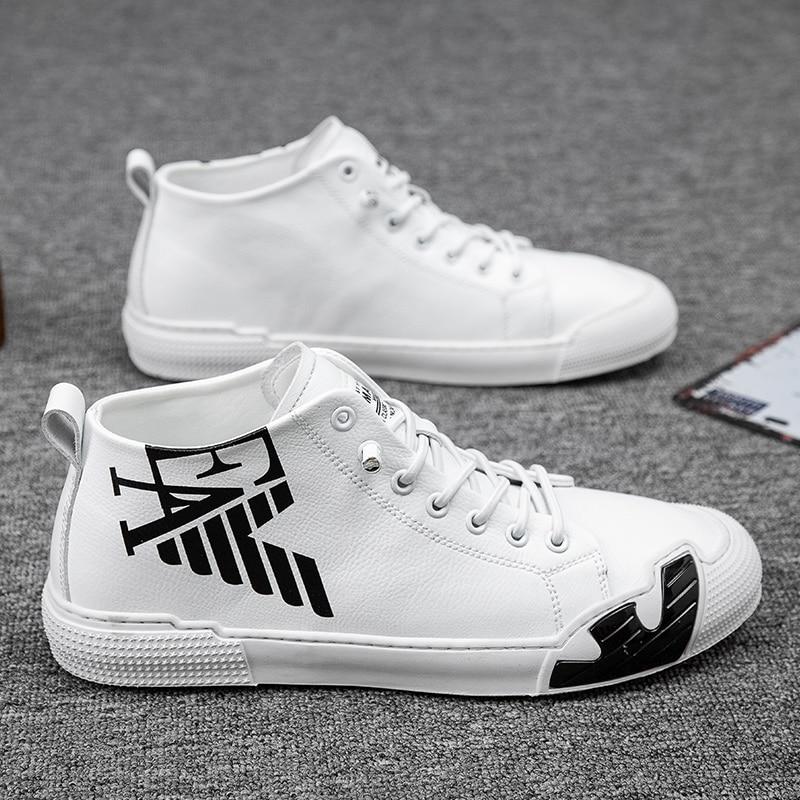 Superstar Fashion Letter Black Printed High top Sneakers Men Skateboard Shoes Seasons Comfortable Sport Shoes Men zapatos hombre