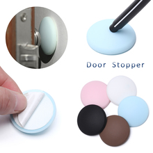 Stopper Protector Door-Handle Bumper-Guard Rubber Self-Adhesive Home-Furniture Round