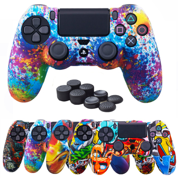 silicone cover skin for dualshock 4 ps4 pro slim controller case and thumb grips caps for play station 4 game accessories ZOMTOP Thumb Grip Caps for Play Station 4 for Sony Dualshock 4 PS4 DS4 Slim Pro Controller Silicone Camo Case Protective Skin